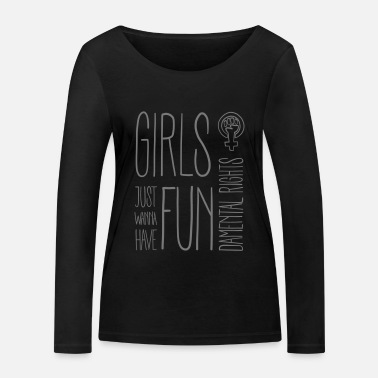 Girls just wanna have fundamental rights - Women's Organic Longsleeve Shirt