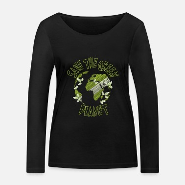 Green Planet Green planet - Save the green planet - Women's Organic Longsleeve Shirt