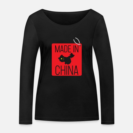 Chinois Manches longues - Chine - T-shirt manches longues bio Femme noir