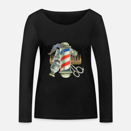Salon Long Sleeve Shirts - Cool Barber Tools. Gifts for Barber, Stylist Salon - Women's Organic Longsleeve Shirt black