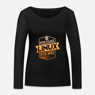 Script Linux Open Source Open Mind Betriebssystem - Frauen Bio Langarmshirt