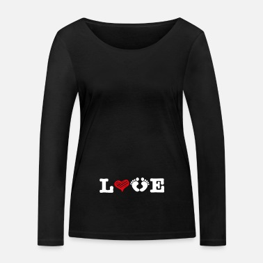 Grossesse Amour Grossesse Maman Grossesse - T-shirt manches longues bio Femme
