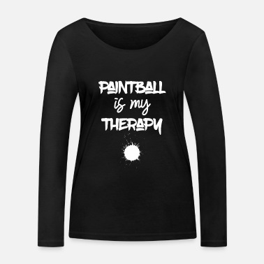Paintball Paintball - Paintballer - Paint - Therapie - Frauen Bio Langarmshirt
