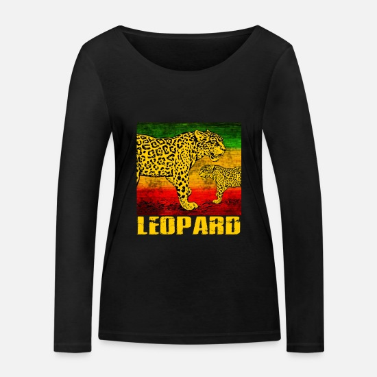 Wilderness Long sleeve shirts - leopard - Women's Organic Longsleeve Shirt black