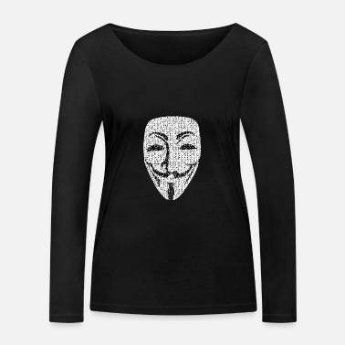 Wikileaks Pirate anonyme Wikileaks Vandetta anonymus - T-shirt manches longues bio Femme