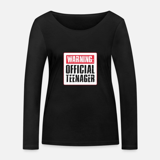 Birthday Long sleeve shirts - teenager - Women's Organic Longsleeve Shirt black