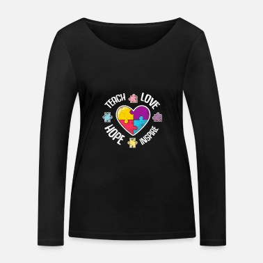 Aspergers Autism Autist Asperger Syndrome Autism Gift - Women's Organic Longsleeve Shirt