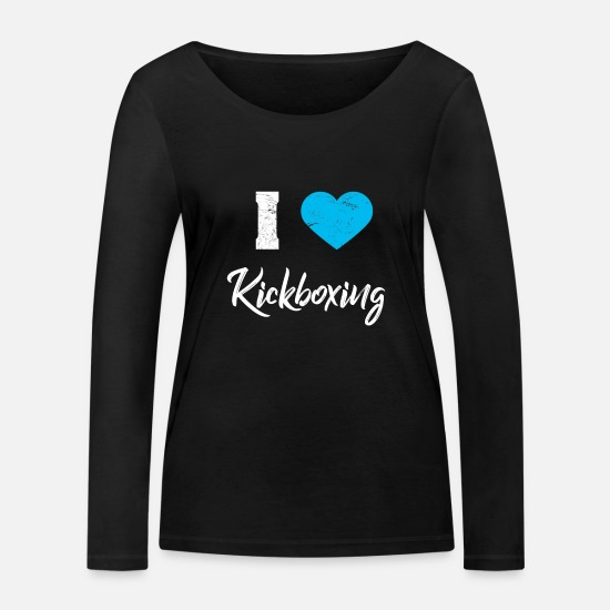 Martial Arts Long sleeve shirts - Kickboxing Kickboxing - Women's Organic Longsleeve Shirt black