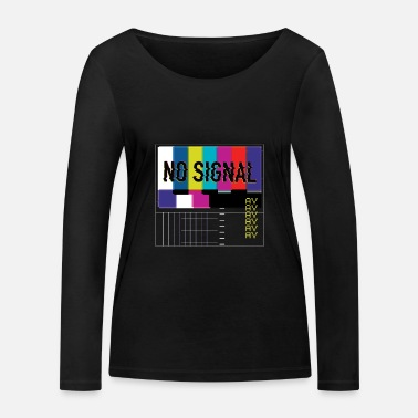 Vaporwave TV no signal transmission interference AV colorful - Women's Organic Longsleeve Shirt