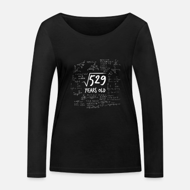23rd birthday geek root from 529 math nerd - Women's Organic Longsleeve Shirt