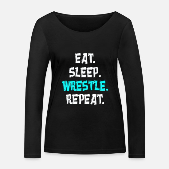 Fight Long sleeve shirts - Wrestling grappling - Women's Organic Longsleeve Shirt black