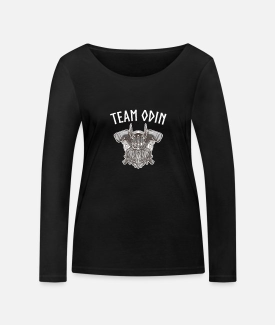 Viking Long-Sleeved Shirts - Team Odin Norse Mythology - Women's Organic Longsleeve Shirt black