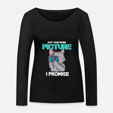 Picture Cat Just One More Picture Camera Kitten Gift - Vrouwen bio longsleeve