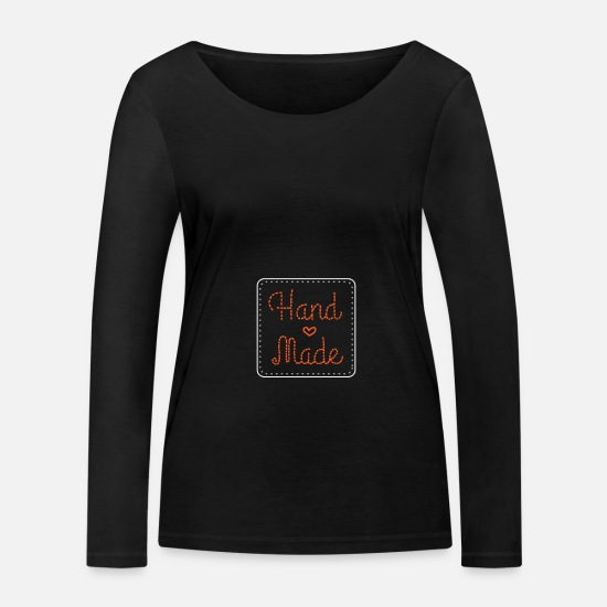 Self Employed Long sleeve shirts - Handmade homemade sewing sewing machine - Women's Organic Longsleeve Shirt black