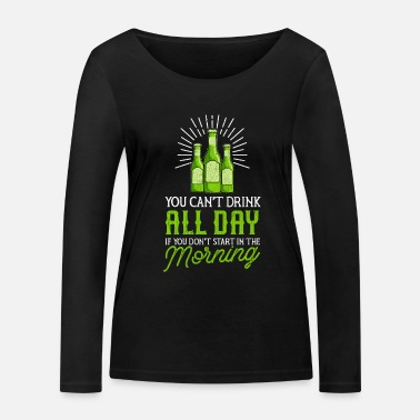 St Paddys Day St Patrick's Day Irish Ireland Drunk Beer Paddy - Women's Organic Longsleeve Shirt