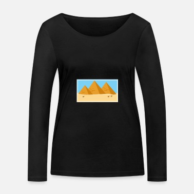 Keepsake Egypt pyramids keepsake gift idea - Women's Organic Longsleeve Shirt
