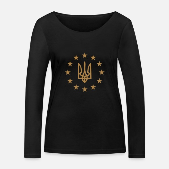 Eu Long sleeve shirts - European Union and Ukraine - Women's Organic Longsleeve Shirt black