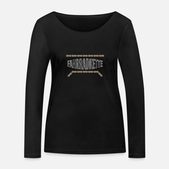 Birthday Long sleeve shirts - Bicycle chain chain links - Women's Organic Longsleeve Shirt black
