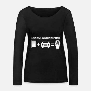 Drive-go-by-car Prevent distracted driving awareness car - Women's Organic Longsleeve Shirt
