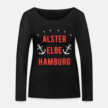 Alster Alster, Elbe, Hamburg - This is my city! - Women's Organic Longsleeve Shirt
