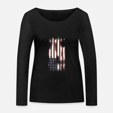USA Flag - Women's Organic Longsleeve Shirt