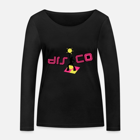 Disco Ball Long sleeve shirts - disco - Women's Organic Longsleeve Shirt black