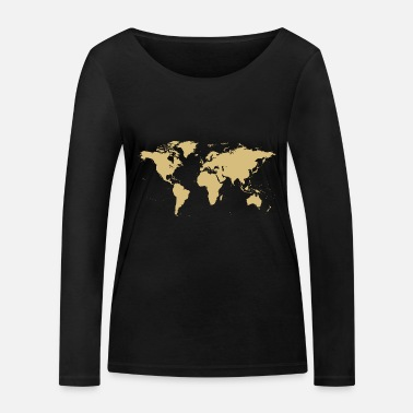World Map World map map - Women's Organic Longsleeve Shirt
