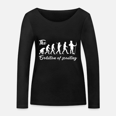 Evolution of Scouting - Women's Organic Longsleeve Shirt