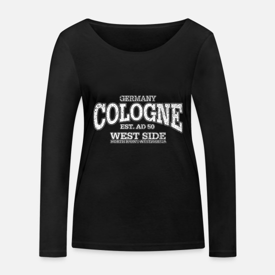 Party Long sleeve shirts - Cologne Cologne (white extreme oldstyle) - Women's Organic Longsleeve Shirt black
