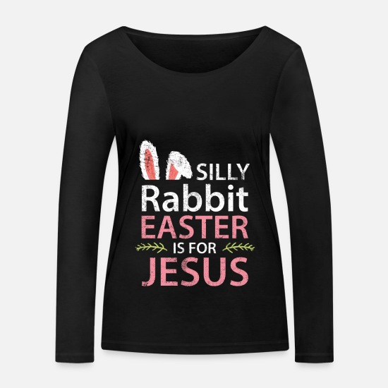 Easter Long sleeve shirts - Easter easter bunny - Women's Organic Longsleeve Shirt black