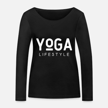 Yoga lifestyle saying meditation scripture text - Women's Organic Longsleeve Shirt