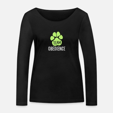 Active With Dog Team Obedience - Dog Sport - Dog Paw - Women's Organic Longsleeve Shirt