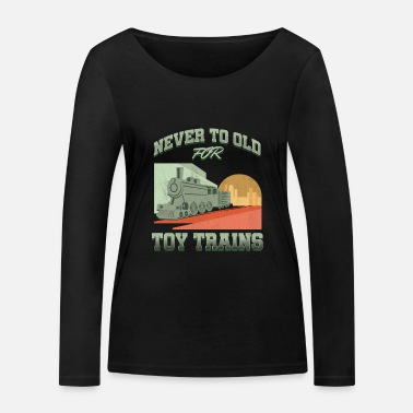 Public Transportation Railroad Railway Public Transportation Locomotive - Women's Organic Longsleeve Shirt