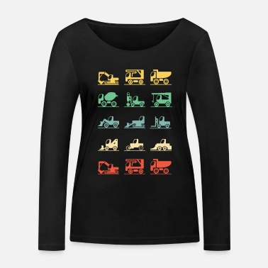 Construction Construction worker excavator construction vehicle retro gift - Women's Organic Longsleeve Shirt
