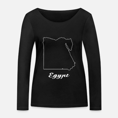 Map Egypt map map - Women's Organic Longsleeve Shirt