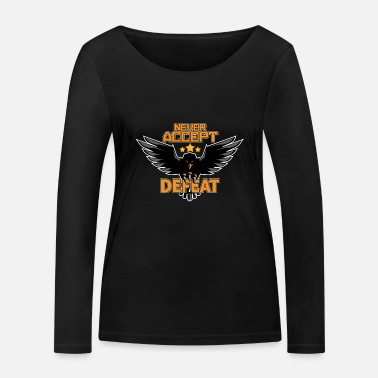 Armeebaby Army military Eagle Stars Never Accept Defeat - Frauen Bio Langarmshirt