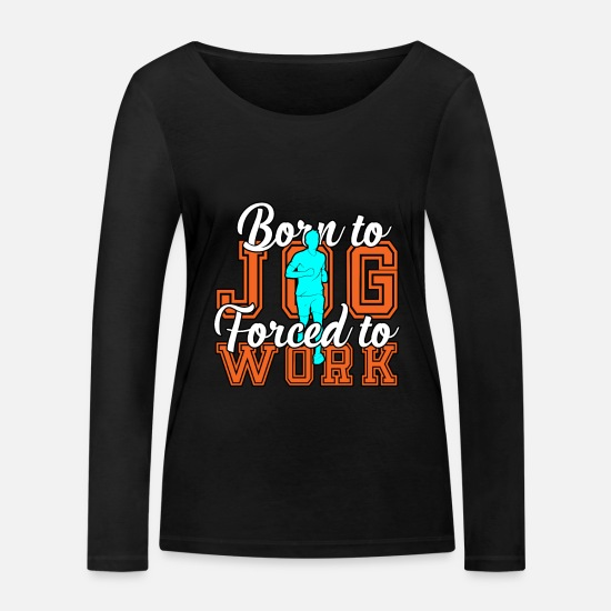Triathlon Long sleeve shirts - to jog - Women's Organic Longsleeve Shirt black