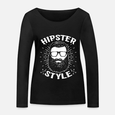 Hipster Hipster hipster - T-shirt manches longues bio Femme
