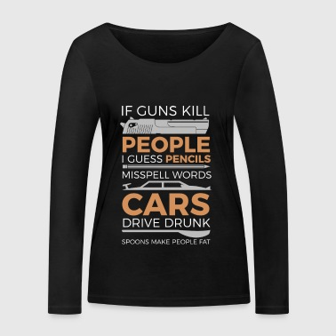 Against war and weapons - For peace - Guns - Women's Organic Longsleeve Shirt by Stanley & Stella