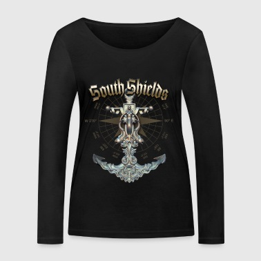 South Shields Anchor Nautical Sailing Boat Summer - Frauen Bio-Langarmshirt von Stanley & Stella