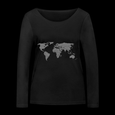 map of the world - Women's Organic Longsleeve Shirt by Stanley & Stella