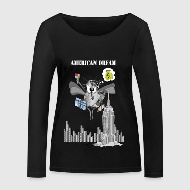 AMERICAN DREAM NYC - T-shirt manches longues bio Stanley & Stella Femme