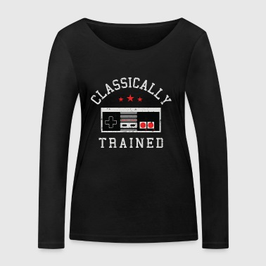 Gamer Shirt- Classically - Women's Organic Longsleeve Shirt by Stanley & Stella