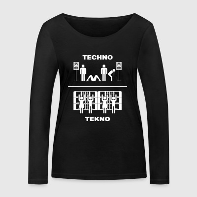 Techno vs Tekno - Women's Organic Longsleeve Shirt by Stanley & Stella