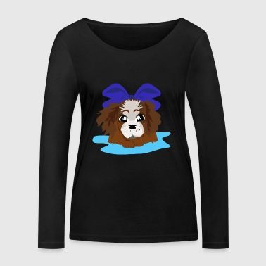 LOVELY BLUE PUPPY - Women's Organic Longsleeve Shirt by Stanley & Stella