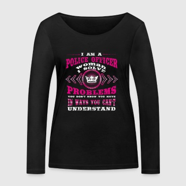 bday gift i am the woman wife POLICE OFFICER - Women's Organic Longsleeve Shirt by Stanley & Stella