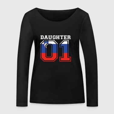 Daughter daughter queen 01 Slovenia - Women's Organic Longsleeve Shirt by Stanley & Stella
