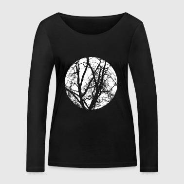 Tree branches mystical forest full moon shirt motif - Women's Organic Longsleeve Shirt by Stanley & Stella