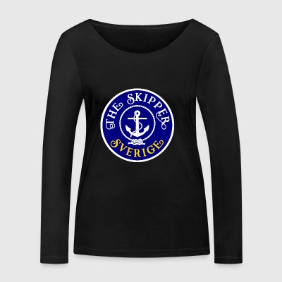 Sailor Skipper Sailing Sweden Anchor Boat Yacht - Women's Organic Longsleeve Shirt by Stanley & Stella