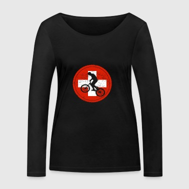 Bicycle bmx love biking Switzerland - Women's Organic Longsleeve Shirt by Stanley & Stella